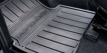 Defender Front Footwell Rubber Mats 07MY upto chassis BA999999
